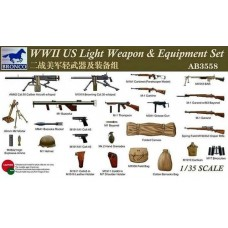WWII US Light Weapons & Equipment Set 1/35