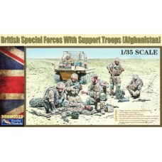 British Special Forces with Support Troops 1/35