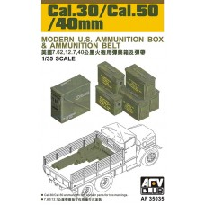 Cal.30/Cal.50/40mm Modern U.S. Ammunition Box & Ammunition Belt 1/35