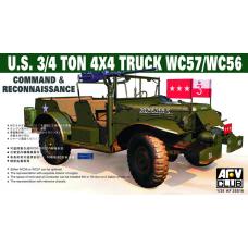 U.S. 3/4 ton 4x4 Truck WC57/WC56 Command & Reconnaissance 1/35
