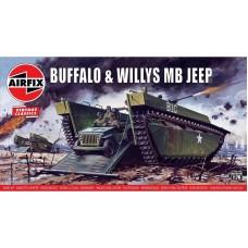 Buffalo & Willys MB Jeep 1/76