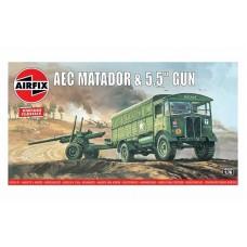 """AEC Matador & 5.5"""" Gun 1/76"""