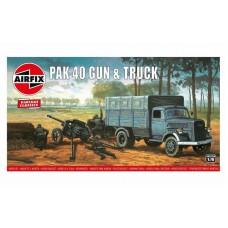 Pak 40 Gun & Open Blitz Truck 1/76