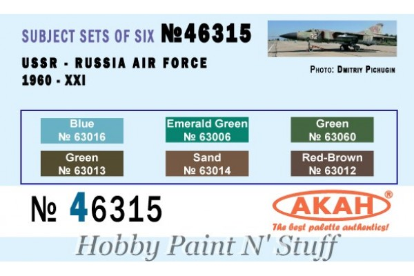AKAN 46315 Soviet Airforce (1960s -2000), tactical colors, faded (L)