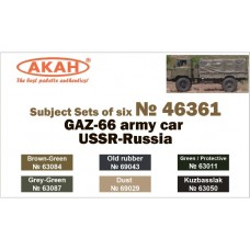AKAN 46361 GAZ-66 army trucks of USSR/Russia (L)