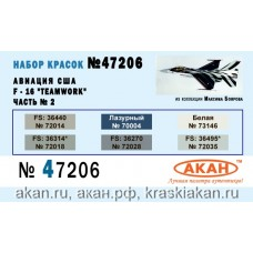 "AKAN 47206 US Aircraft - F-16 ""Teamwork"" part 2 (A)"