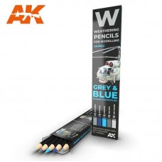 Weathering Pencil Set Grey & Blue: Shading & Effects