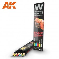 Weathering Pencil Set Basic Colors: Shading & Demotion
