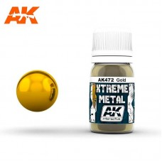 AK472 Xtreme Metal - Gold 30ml