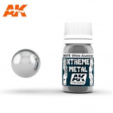 AK478 Xtreme Metal - White Aluminium 30ml