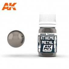 AK669 Xtreme Metal - Titanium 30ml