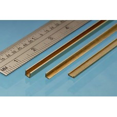 Brass Angle, 1 x 1 mm, 1pc, 305mm