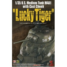 """M4A1 Sherman with Cast Cheek """"Lucky Tiger"""" 1/35"""