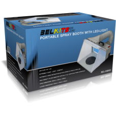 Portable Spray Booth with LED-light for Airbrush