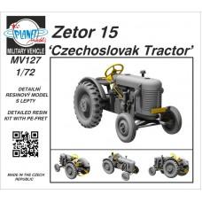 Zetor 15 'Czechoslovak Tractor' 1/72