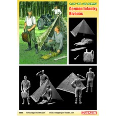 German Infantry Bivouac (3 Figures Set with Zeltbahn) 1/35