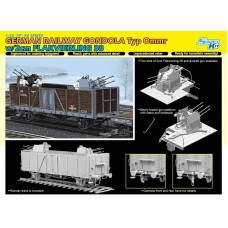 German Railway Gondola Typ Ommr w/2cm Flakvierling 38 1/35
