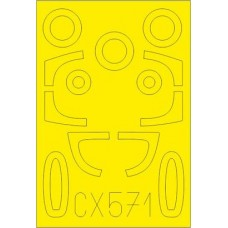 He 162A 1/72 Masking sheet for Special Hobby kit