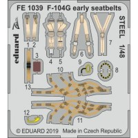 F-104G early seatbelts STEEL 1/48 for Kinetic kit