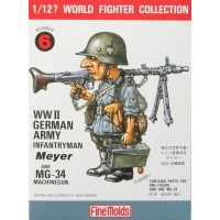 W.W.II German Infantry Man & MG34 1/12
