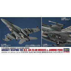Aircraft Weapons: VIII U.S. Air-to-Air Missiles & Jamming Pods 1/72