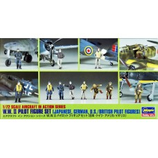 WWII Pilot Figure Set - Japanese, German, U.S./British Pilot Figurines 1/72