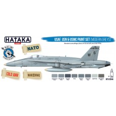 HTK-BS44 USAF, USN & USMC paint set (modern greys)