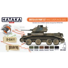 HTK-CS22 British AFV paint set (WW2 European colours)