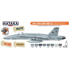 HTK-CS44 USAF, USN & USMC paint set (modern greys)