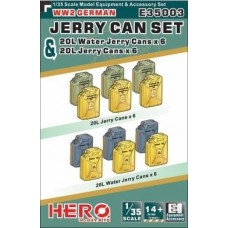 WWII German Jerry Can & Jerry Can Water Set 1/35
