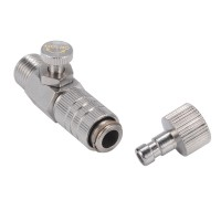 """1/8"""" Airbrush Quick Release Disconnect Coupler with Airflow Control"""