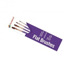 Flat Brushes 4pcs