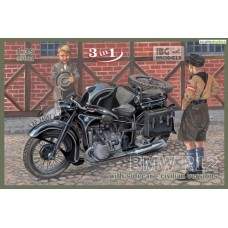 BMW R12 with sidecar - civilian versions 1/35