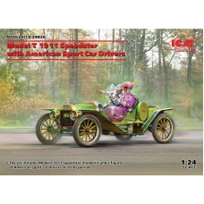 Ford Model T 1913 Speedster with American Sport Car Drivers 1/24