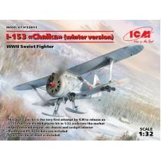 "Polikarpov I-153 ""Chaika"" WWII Soviet Biplane Fighter (winter version) 1/32"