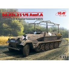 Sd.Kfz.251/6 Ausf.A, WWII German Armoured Command Vehicle 1/35