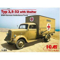 Opel Blitz Typ 2,5-32 with Shelter Ambulance truck 1/35