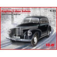 Opel Kapitän 2-door Saloon WWII German Staff Car 1/35
