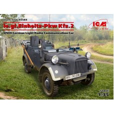 le.gl.Einheits-Pkw Kfz.2, WWII German Light Radio Communication Car 1/35