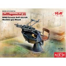 Zwillingssockel 36 WWII German Anti-aircraft Machine gun Mount 1/35