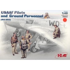 USAAF Pilots and Ground Personnel (1941-1945) 1/48