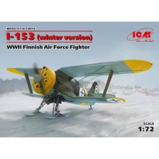 Polikarpov I-153 Chaika (winter version) WWII Finnish Air Force Fighter 1/72