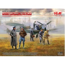 WWII Luftwaffe Airfield (Bf 109F-4, Hs 126B, 7 figures) 1/48