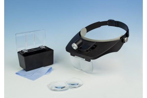 Lightcraft LED Headband Magnifier Kit with Bi-Plate Magnification