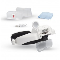 Lightcraft Pro LED Headband Magnifier Kit w/Bi-Plate Magnification & Loupe