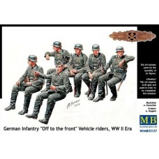 """German Infantry """"Off to the front"""" Vehicle riders WW II Era 1/35"""