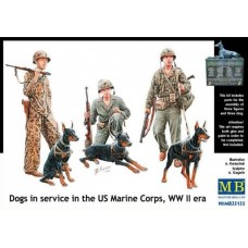 Dogs in service in the US Marine Corps, WW II era 1/35