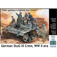 """""""Their position is behind that forest"""" German Stug III Crew  1/35"""