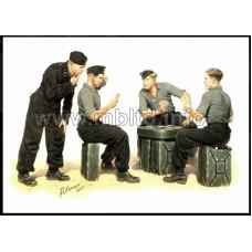 German Tank Crew Playing Cards, Die Skatspieler 1/35