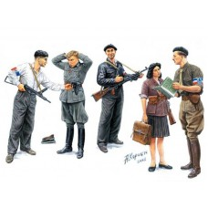 Maquis, French Resistance and Captured German Infantry Man 1/35